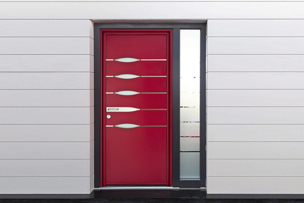 Porte d'entrée alu design Maison du Menuisier