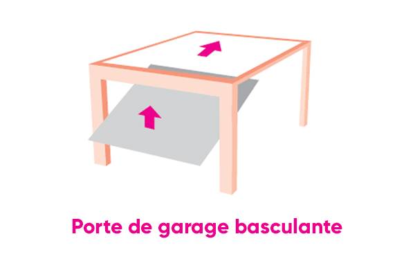 Porte de garage basculante maison du menuisier