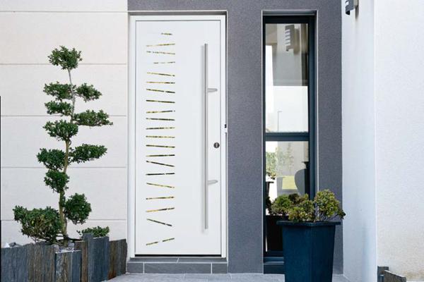 Porte d'entrée aluminium Maison du Menuisier