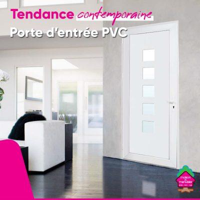 Porte PVC style Contemporain